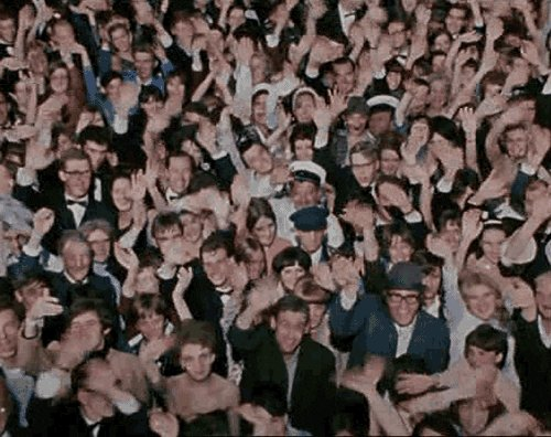 waving the beatles GIF