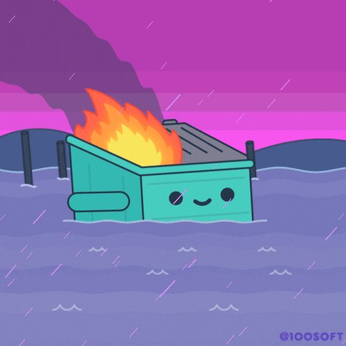 This Is Fine GIF by 100% Soft