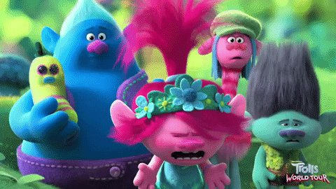 Trolls World Tour Reaction GIF by DreamWorks Trolls