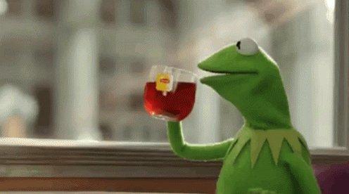 Kermit Sips Tea GIF