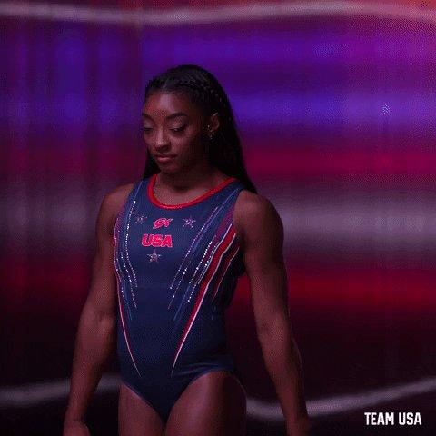 Serious Simone Biles GIF by Team USA