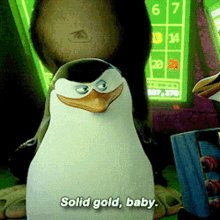 """Skipper from the Penguins of Madagascar saying """"Solid G"""