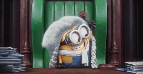 Law Judge GIF by Minions