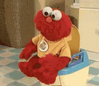 Poop Elmo GIF