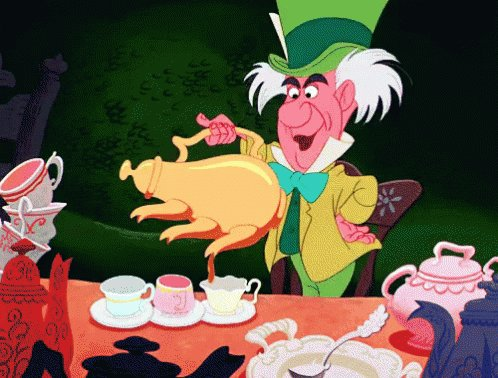 Mad Hatter Pouring Tea GIF