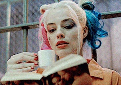 Harley Quinn Tea GIF