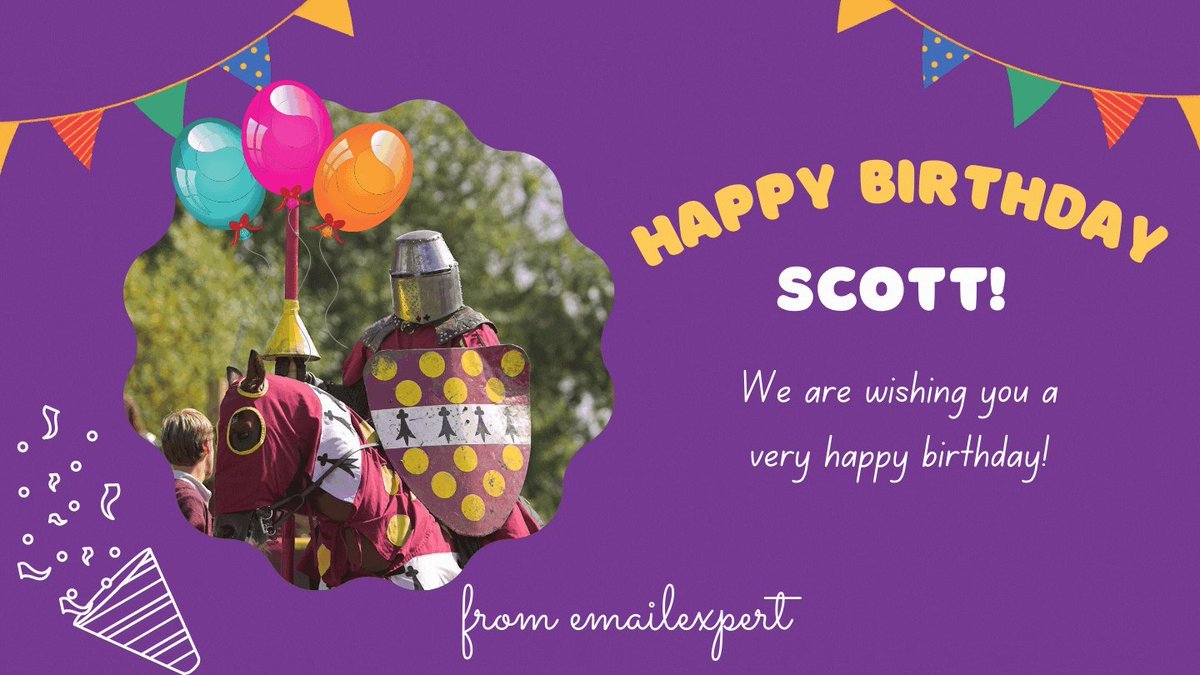 Image for the Tweet beginning: Happy Birthday @scottcohen13! 🍬🎂🥳