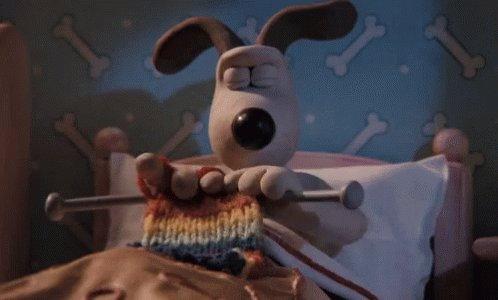 Knitting Serious GIF