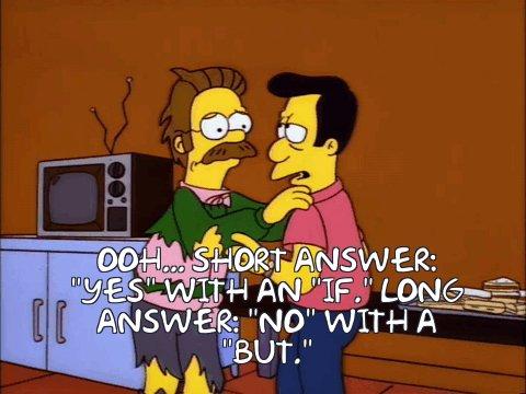 Ned Flanders, wearing tatte...