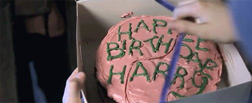 Happy birthday to Harry Potter and J.K. Rowling! Eat some cake on behalf of The Boy Who Lived today