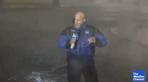 Seems like a missed opportunity that Jim Cantore isn't on site.