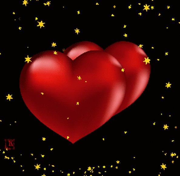 Открытку, картинки мерцающие сердечки
