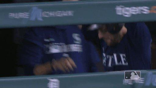 Baseball player cartwheels after homer