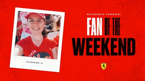 🚨 Fan of the Weekend Alert 🚨  We couldn't head into the Summer break without awarding our '@ScuderiaFerrari Fan of the Weekend' ❤️  This week, the title goes to… @agnesk_5 🎉 👏  Thank you Agnes for cheering us on at the #HungarianGP 🇭🇺  #essereFerrari 🔴 #TifosiTuesday
