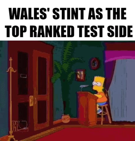 Wales stint as the highest-ranked test side #ENGvWAL