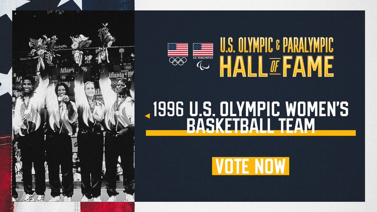 One historic team & two legendary women. USA Basketball is proud to have Anne Donovan, @LisaLeslie & the 1996 U.S. Olympic Women's Basketball Team nominated for the U.S. Olympic & Paralympic Hall of Fame. #TeamUSAHOF  📰 » http://bit.ly/2019USABHoFUSOPC … Vote »» http://TeamUSA.org/Vote