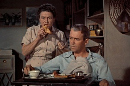 Thelma Ritter & James Stewart (1954)#RearWindow