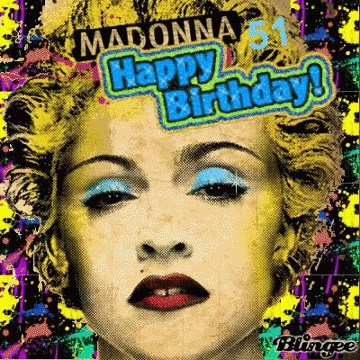 Happy Birthday Madonna God Bless and thank you for leading the way..