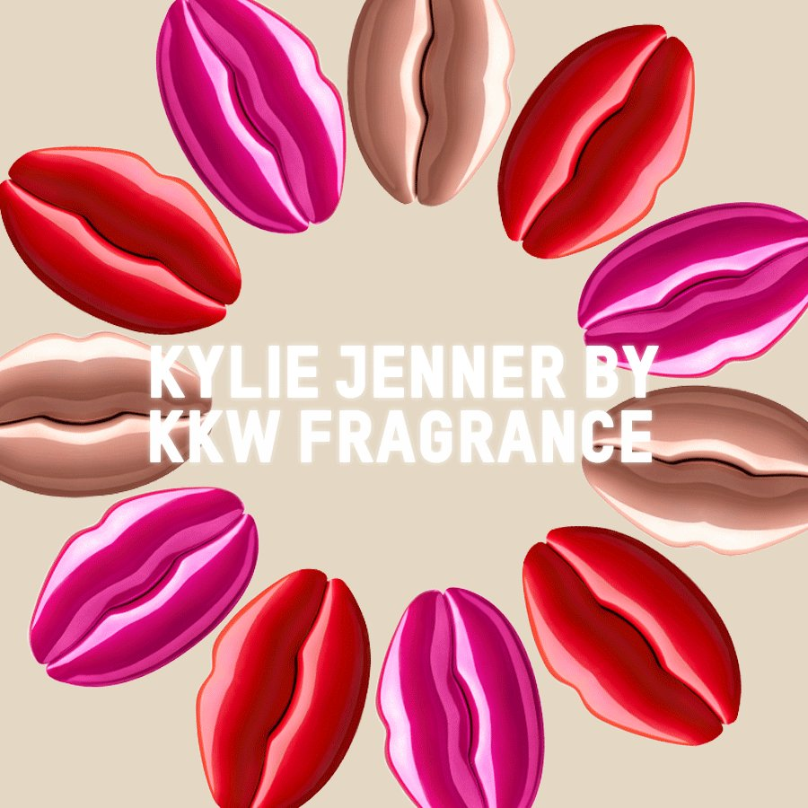 KYLIE JENNER BY KKW FRAGRANCE. Three colorful bottles in nude, pink and red. These lip-shaped fragrances offer notes of red lotus blossoms, liquid amber and peony. Launching on Friday, 08.23 at 12PM PST at  http://KKWFRAGRANCE.COM   #KKWFXKYLIE