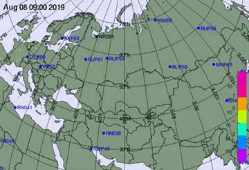 Here's an animation of the plume of #radioactivity from the #russiaexplosion  No wonder it was not seen in Scandinavia as it moved south and mostly within #Russia.  I expect we will hear more from other monitoring stations outside Russia