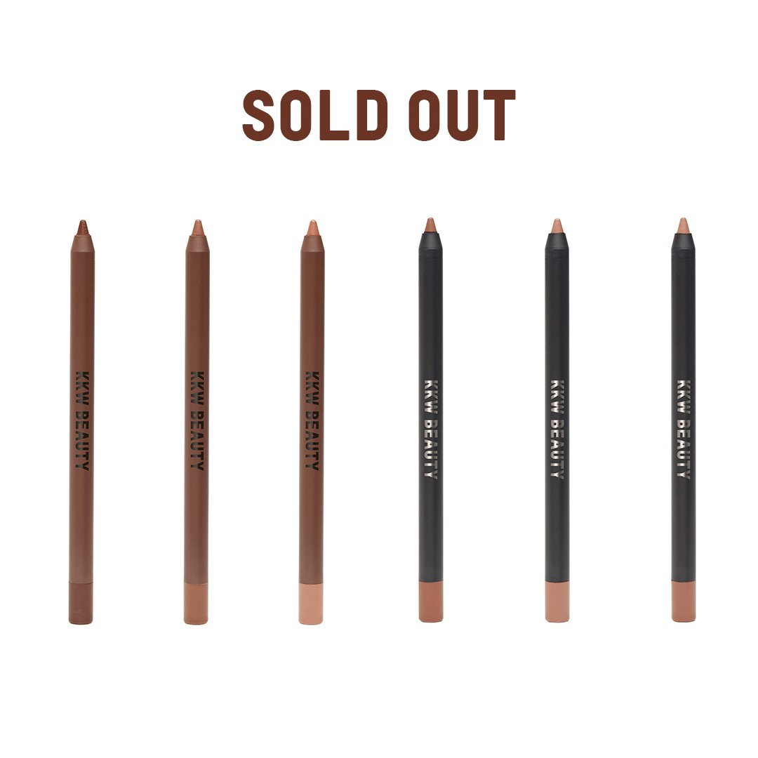 The Matte Smoke & Matte Cocoa Lip Liners are SOLD OUT! Pair your favorite Nude or Classic Icon Lip Liner with the new Matte Lipsticks available to shop at  http://KKWBEAUTY.COM   #KKWBEAUTY