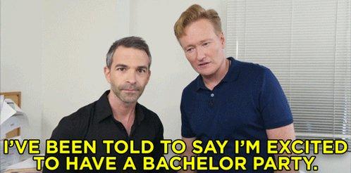 On This Day In #CONAN History: Conan surprised Jordan Schlansky with a bachelor party. http://conan25.teamcoco.com/node/90791
