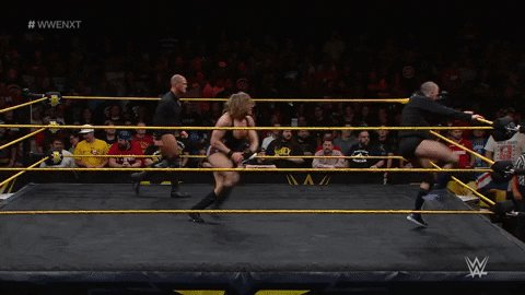 Who wants to see me dash another shoe off @AdamColePro head on USA network Sept. 18th? @WWENXT