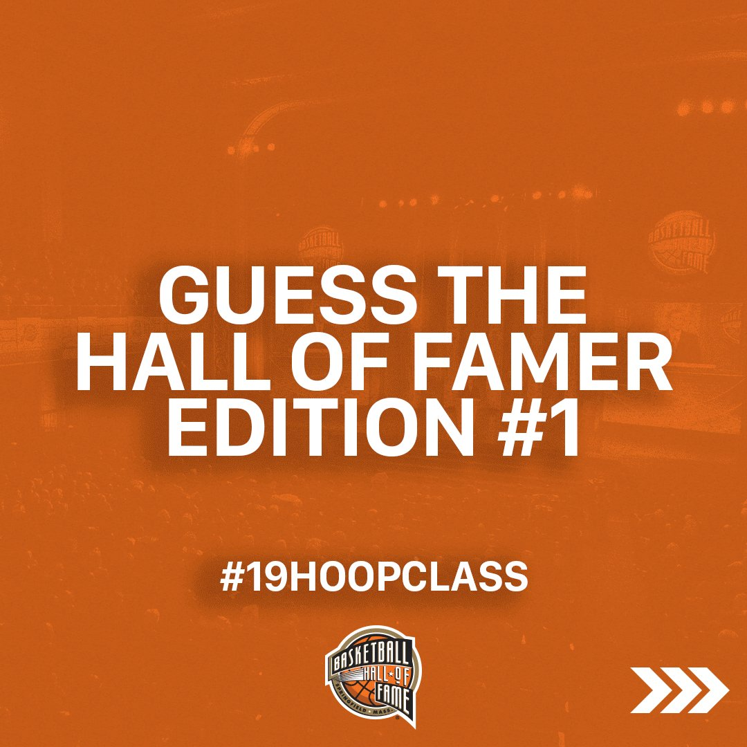 Can you guess who will be attending the #19HoopClass ceremony?   📍 2019 Enshrinement Ceremony 📅 September 6th ⏰ 7:30 PM/ET