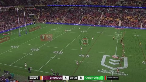 Image for the Tweet beginning: Second half underway!  #NRLBroncosSouths  #NRL