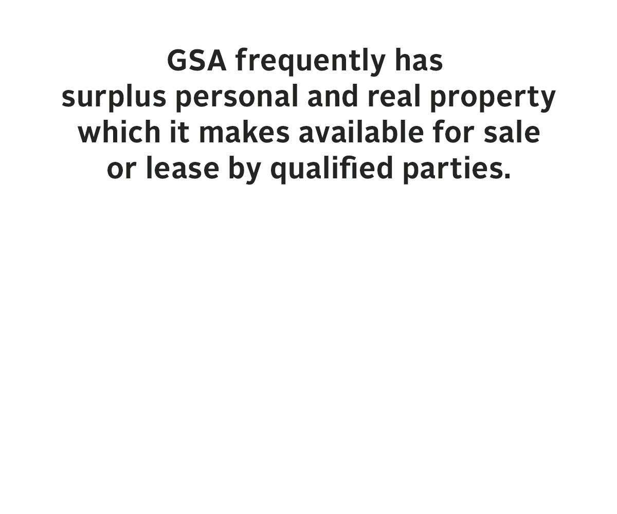 #FunFactFriday: GSA frequently has surplus federal personal and real property which it makes available for sale or lease by qualified parties. Learn more and see what's up for auction! https://t.co/CFbS6XNuHA
