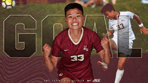 71' | 2 - 1 That's another one for the Noles by Yuuuuuuuuujie Zhao!!!