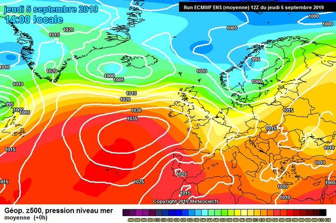 Buenas. Situación de norte los próximos días con ambiente fresco pero poca precipitación y viento norte.  Septiembre seco? Por lo menos su primera quincena si.