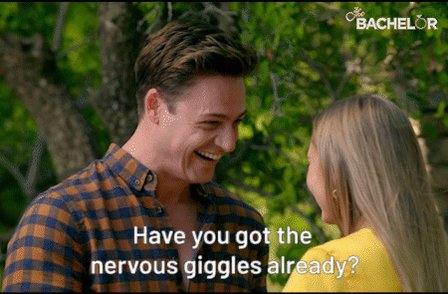 RT if you've got the nervous giggles right now as well. #TheBachelorAU