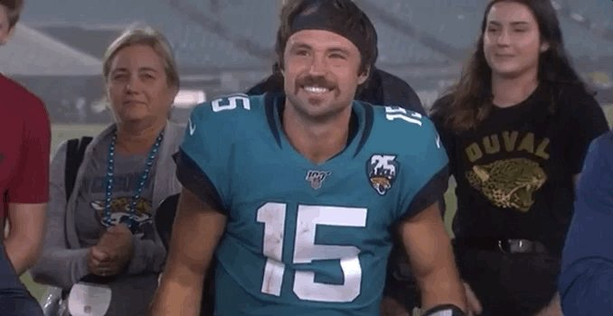 The man. The myth. The mustache. The Minshew. #DUUUVAL  @GardnerMinshew5 | #TENvsJAX