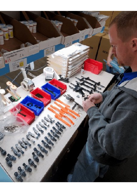 Image for the Tweet beginning: #BehindTheScenes Adam is busy assembling our