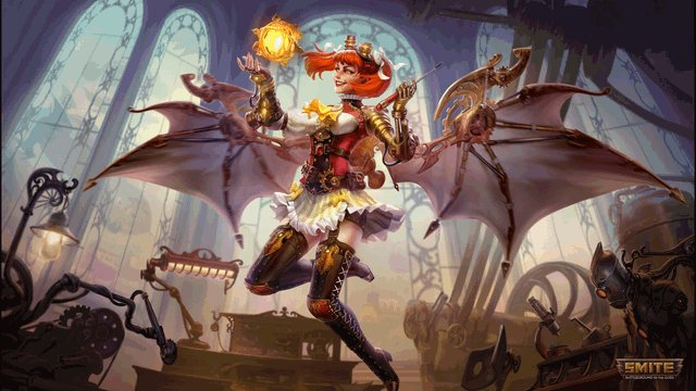 @TitanCupcake_ I animated the artwork for Clockwork Discordia and thought it might be appreciated! #Smite #discordia #steampunk #Animation