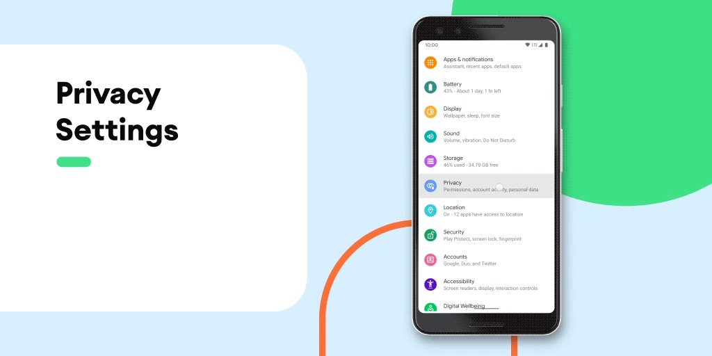 You're in control of your privacy with #Android10. Enjoy new, smarter controls that let you decide when your data is shared.