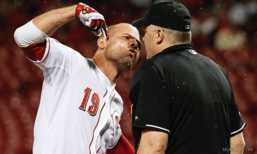 Happy Birthday, Joey Votto! You go right on arguing the Strike Zone!