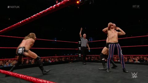 THIS. JUST. HAPPENED.#NXTUK @JamesDrake_GYT @ZackGibson01