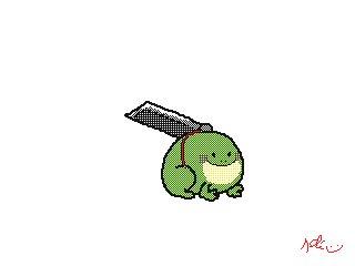 Little frog, little sword! 🐸⚔️✨ #FFVIIRemastered #FF7リメイク