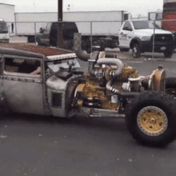 #Car 🚗 Awesome of the Day: #Steampunk-ish ⚙️ #RatRod #HotRod With Open Exhaust Pipes & Tank Treads via @newyorktomars #SamaCars