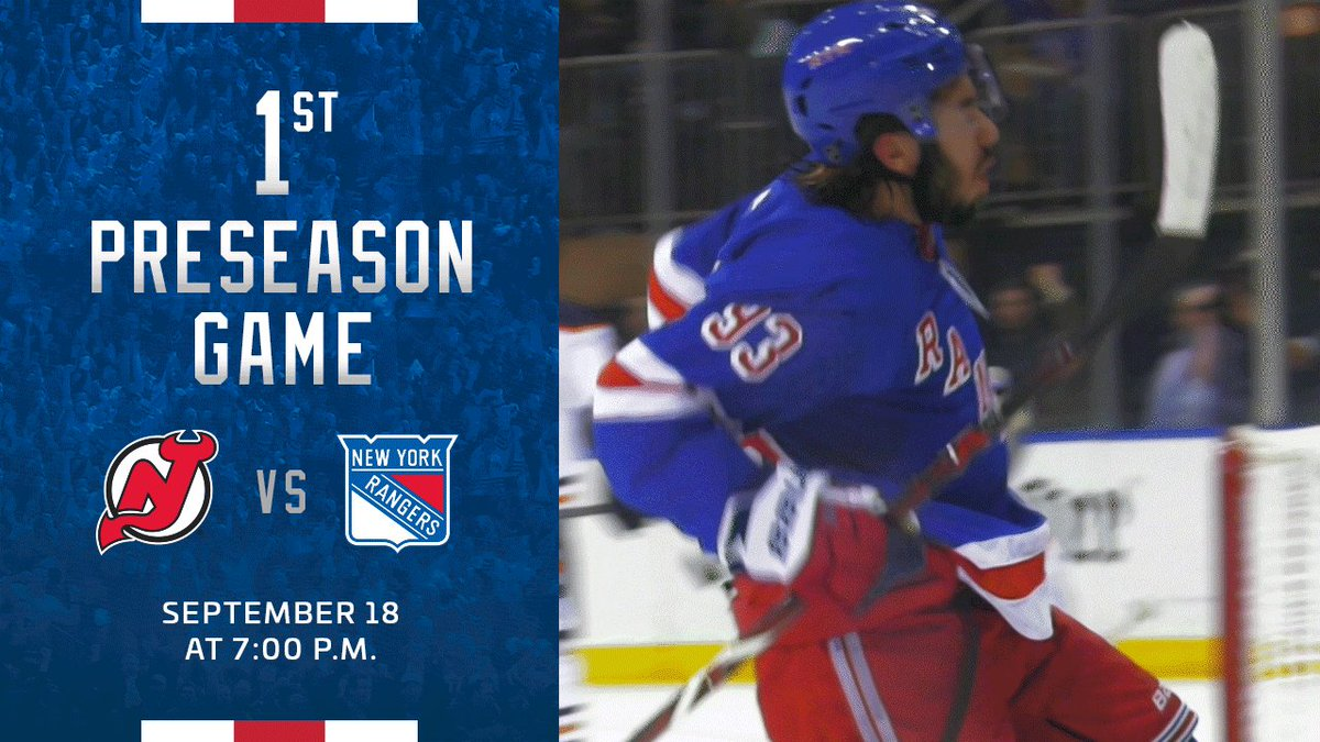 Good news to start the weekend.#NYR hockey is back at MSG this Wednesday. http://nyrange.rs/2kzFVoK