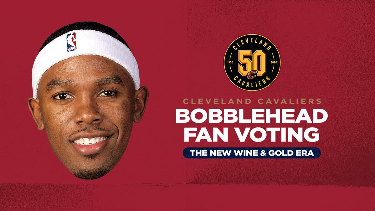 """Have you voted yet?!  The polls are still open for our """"New Wine & Gold Era"""" (2003-2010) bobblehead!  VOTE NOW: http://on.nba.com/2z9yUOZ  #Cavs50"""