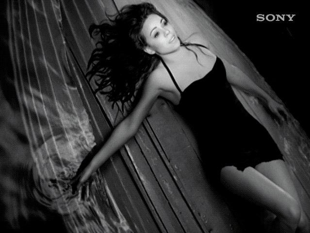 Mimi in black & white for the classic 'My All' video.
