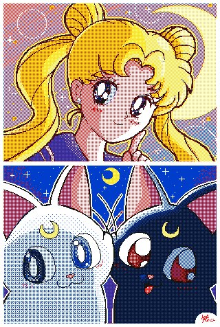 Sailor moon 🐱🌙✨🐱 #pixelart