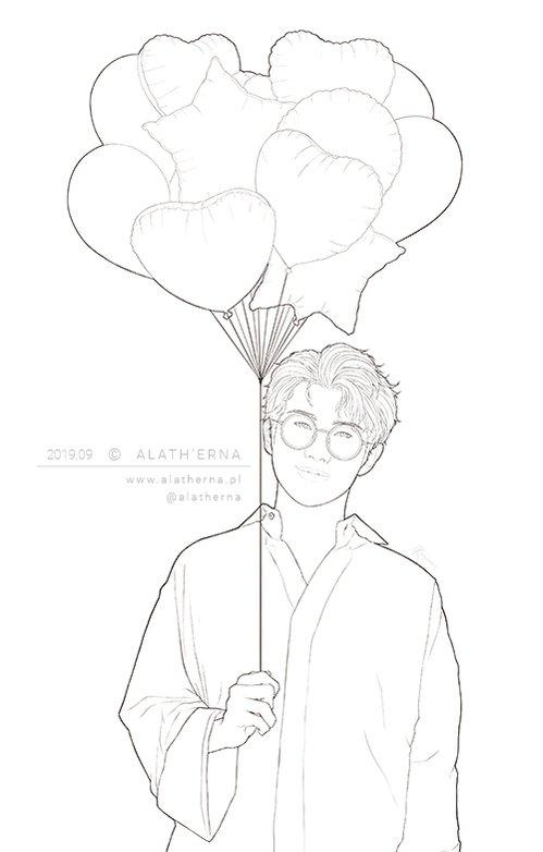 And a process GIF animation ❤️  #HappyBirthdayNamjoon  #BTS #방탄소년단 #btsfanart #fanart #Namjoon #김남준 #나무준