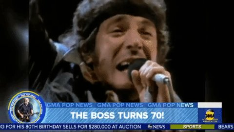 Happy belated 70th birthday to the BOSS, Bruce