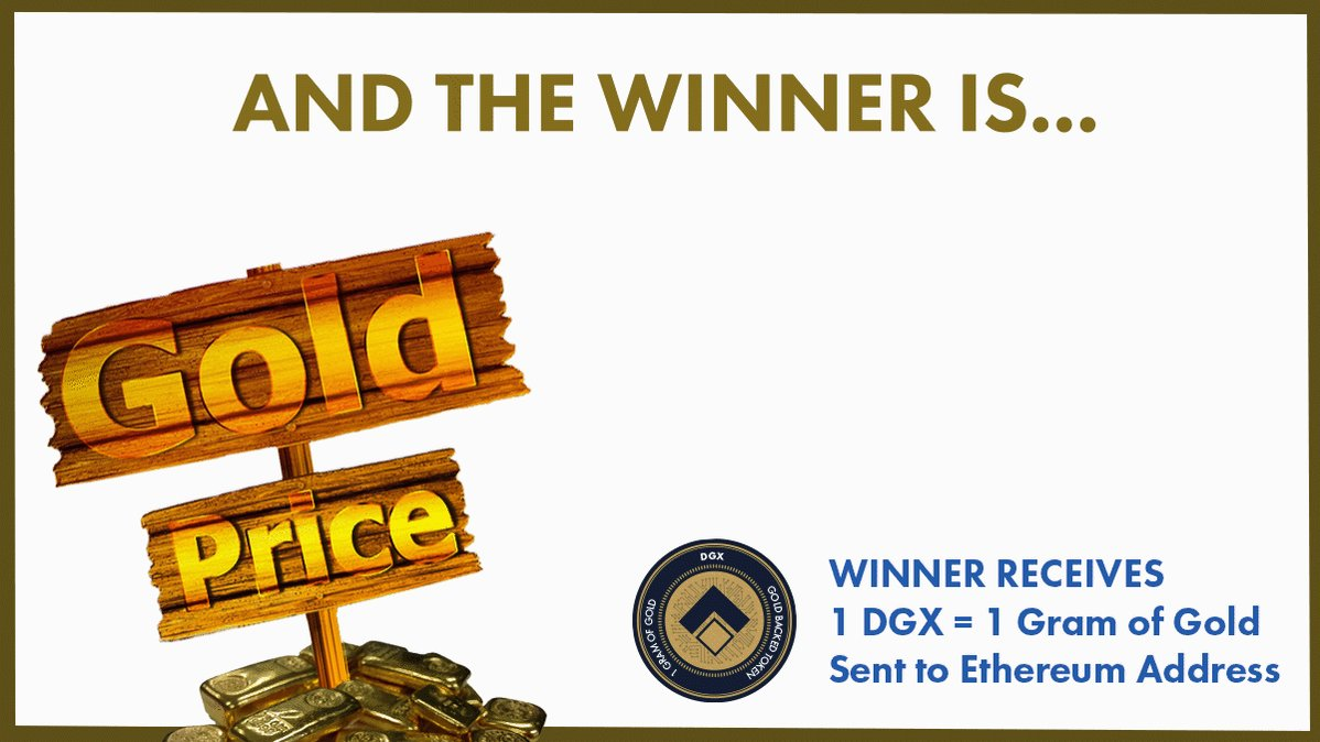 Image for the Tweet beginning: @DigixGlobal We have a winner!!