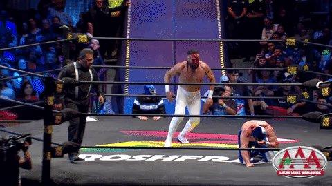 La tan esperada lucha de #TriplemaníaXXVII ya está 🔴 EN DIRECTO por @multimediostv 🔥  #VamosADarlesLucha 🤙