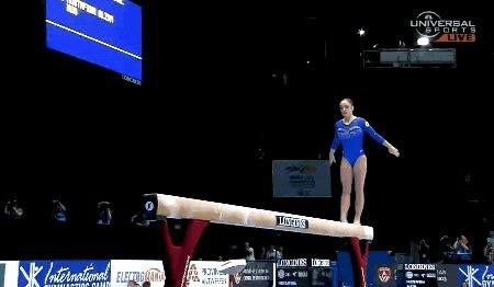Aliya Mustafina (2013)  Switch split leap 1/2 - Onodi  Happy birthday!